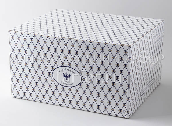 Gift wrapping Cobalt net Box