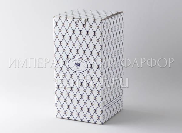 Gift wrapping for a vase Cobalt net Box