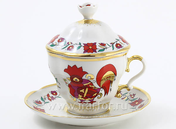 Cup with a lid and saucer tea Souvenir Gift-2