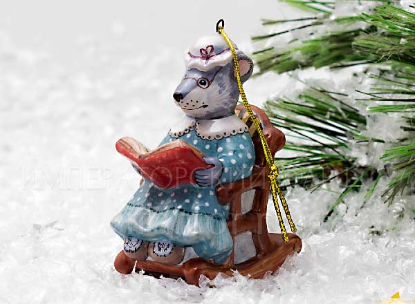 Christmas tree toy Mouse-grandmother