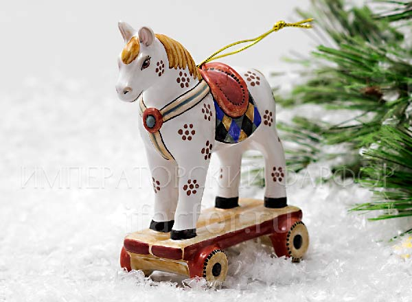 Christmas tree toy Wheel horse