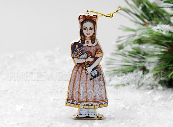 Christmas tree toy Girl with a Nutcracker