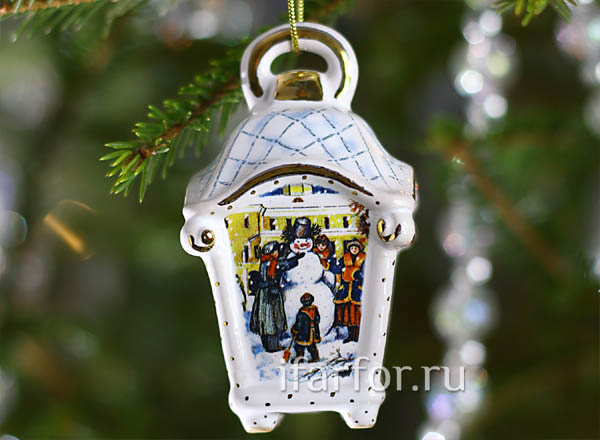 Christmas tree toy Flashlight small Maslenitsa