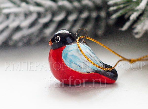 Christmas tree toy Bullfinch
